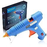 Anyyion 100-Watt Heißklebepistole Industrie Klebepistolemit 15 Stück Klebesticks, 3 Minuten Erhitzung, blau