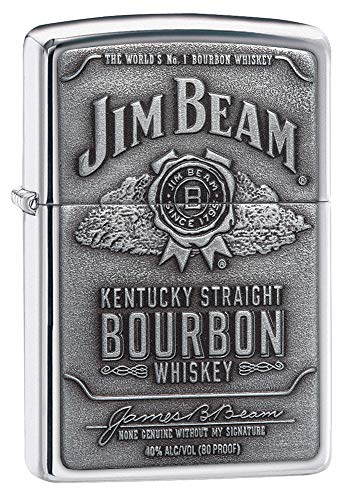 Zippo Jim Beam   Emblem Lighter - Mechero, Color Color Plateado