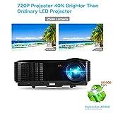 Video Proyector - Proyector 2500 Lúmenes 1280*800 Full HD 1080P Proyector de Cine en Casa, Gran Pantalla de 200