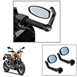#7: Vheelocity Motorycle Bar End Mirror Rear View Mirror OvalFor Ktm Duke 200