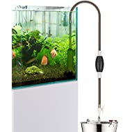 Fish Tank Cleaner bedee Aquarium Cleaner Fish Tank Siphon Vacuum Pump Gravel Cleaner Fish Tank Water Changer Aquarium Water Changer Self Priming with Flow Control Tape For Fish Tank 80-400 Litre