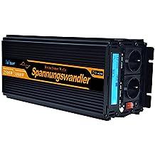 inversor de corriente 2500 5000w onda pura 12v 220v transformador onda sinusoidal pura LCD