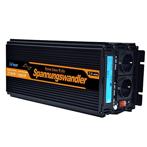 wechselrichter reiner sinus 2500 5000W spannungswandler 24V 230V LCD power inverter
