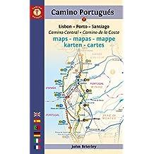 Camino Portugués Maps - 2017 edition: Camino Central + Camino de la Costa (English Edition)