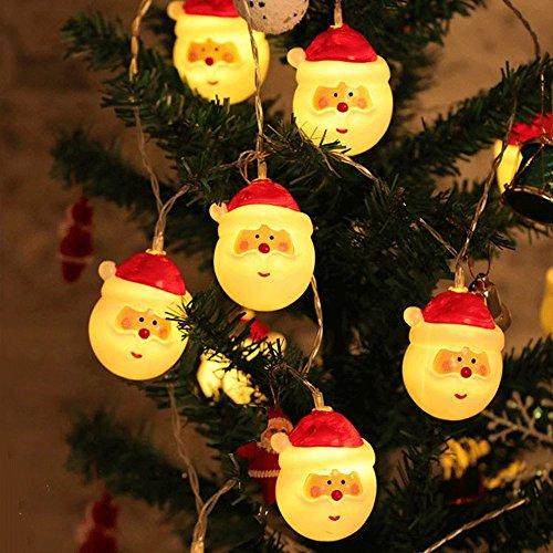 ten Weihnachtsmann LED lichterkette lampe dekoration lichterketten mit batteriebetrieben, super hell und wasserdicht, DIY dekoration für weihnachten / thema partys / karneval etc (Warm white, 4.5M/30 beads) (Alle White Party Thema)