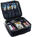 Make-up-Koffer Make-up Reisetasche, MLMSY Kosmetiktasche mit Gold Zipper Make-up Pinsel Organizer Portable Wasserdichte große Make-up Tasche Kulturbeutel für Frauen oder Männer (Klein) (A:Trompete)