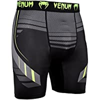 Venum Technical 2.0 Pantalones Cortos de Vale Tudo, Hombre, Negro/Amarillo, L