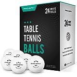 Pro Spin, Palline da ping pong bianche, 40+, 3 stelle, confezione da 12 o 24, palline ad alte prestazioni in ABS, molto resis
