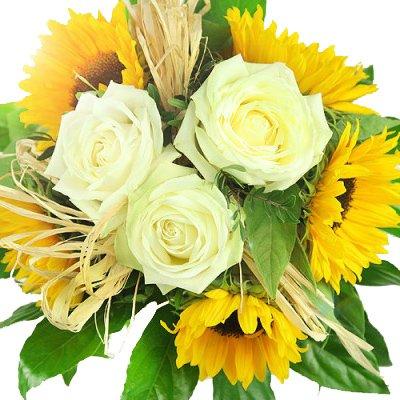 floristikvergleich.de Blumenstrauß Sonnenschein – Blumenstrauß versenden mit Rosenbote