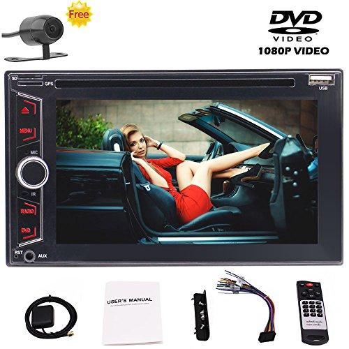 EINCAR Kostenlose Backup-Kamera-Geschenk Doppel-DIN-6.2 Zoll kapazitiver Touch Screen Auto Stereo In-Dash-Träger GPS-Navigation Wince UI Unterstützung FM/AM HD Radio DVD/CD 1080P Video abspi Agile Stereo