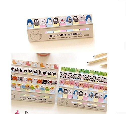 jxy pingüino Mini Animales Cartoon Sticky Note Fun Bookmark