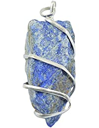 Lapis Lazuli Natural Wire Wrapped Crystal Pendant Healing Gemstone