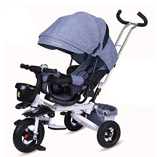 Triciclos- Reclinable For Niños con Asiento Giratorio,...