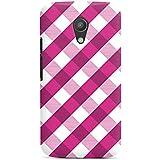 Motorola Moto G2 Hülle Premium Case Schutz Cover Karo Muster Pink