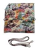 Sun&Shadow Handtasche Damen Umhängetasche City Print Schultergurt Lack-Optik