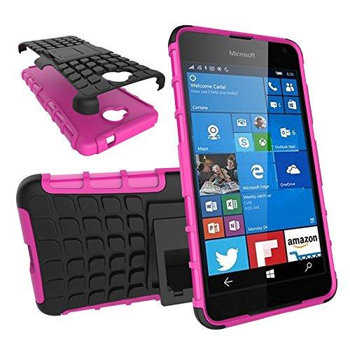 Qiaogle Telefon Case - Shockproof TPU + PC Hybrid Ständer Schutzhülle Case für Apple iPhone 5 / 5G / 5S / 5SE (4.0 Zoll) - HH08 / Orange HH07 / Rosa