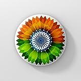 LASTWAVE Independence Day Indian Flag Badge (Tricolour, LSWBADG0052)