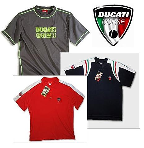 Ducati MotoGP Bike Motorrad Herren 3Shirt Value Pack (2x T Shirts 1x Polo Shirt) XXXL