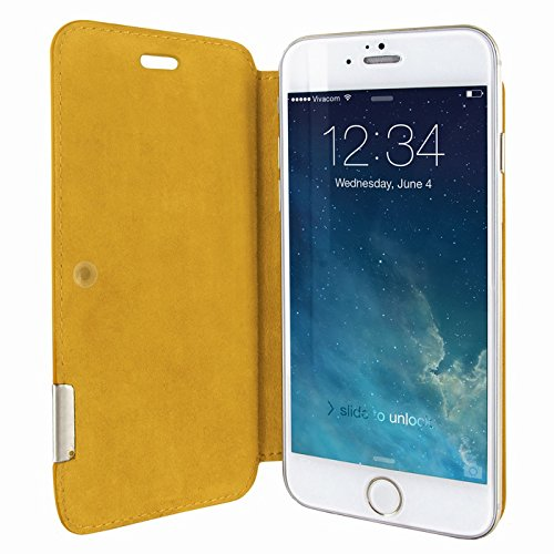 Piel Frama 686SWN Swaro Etui rigide pour iPhone 6 Plus Orange citronier