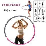 Aro deportivo de ejercicios de fitness tipo hula hoop, 1,2kg, rosa y gris
