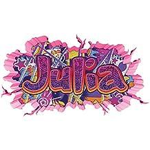 47x25cm 3D Wandtattoo Graffiti Wand Aufkleber Name NICO Wanddurchbruch sticker selbstklebend Wandbild Wandsticker Jungenddeko Kinderzimmer 11U050 Wandbild Gr/ö/ße F:ca