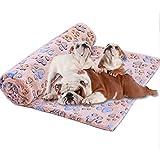 Demarkt Mascota Perro Gato Estera Almohadilla Patrón de Huellas Manta de Perro Mascota Suave CalentarDormir Estera