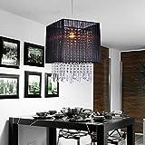 @lutre Kronleuchter aus Kristall, für Flur, Eingangsbeleuchtung, Balkon Licht, Deckenleuchter, Kronleuchter aus gebürstetem Kristallglas, Schwarz