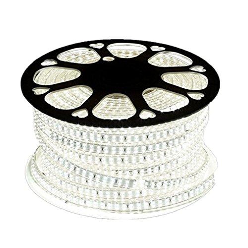 Wasserdicht Zweireihige 220V 2835 IP65 LED Band LED-Stripe 20m LED Streifen Lichterkette1800 LEDs (180 LEDs/Meter) viel heller als normale Lichtband (weiß)[Energieklasse A++]