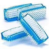 com-four® 4X Spazzola per Lavaggio delle Mani in Blu - Spazzola per Unghie per la Pulizia di Mani e Unghie (4 Pezzi - Blu)