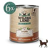 Wildes Land Hundefutter Nassfutter Pferd 800g (6 x 800g)