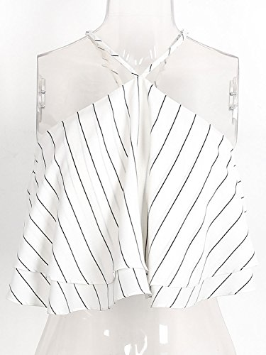 Simplee Apparel - Chemisier - Femme Black White Striped