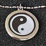 Collar Yin-Yang con protección EMF, Colgante de turmalina negra y piedra de lava, joya de salud natural de estilo chino, colgante de energía escalar (colgante de energía cuántica)