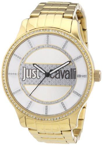 Just Cavalli - R7253127504 - Huge - Montre Femme - Quartz Analogique - Cadran Argent - Bracelet Acier Doré