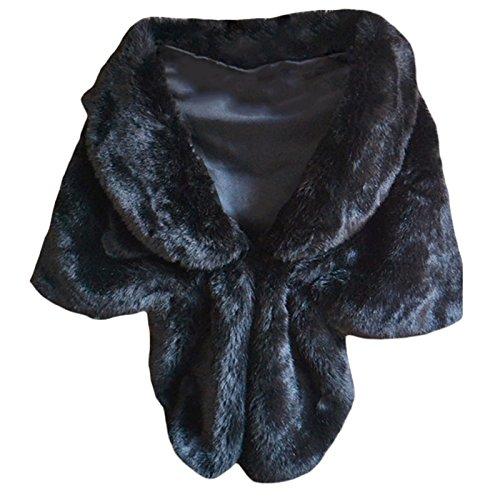 Chal mujer, piel sintética, bufanda Negro negro Talla