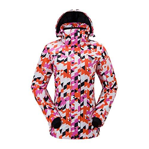 Yuncai Moda Esterno Sport Donna Tuta da Sci Impermeabile Giacca da Sci Tavola Singola e Doppia Come Immagine14