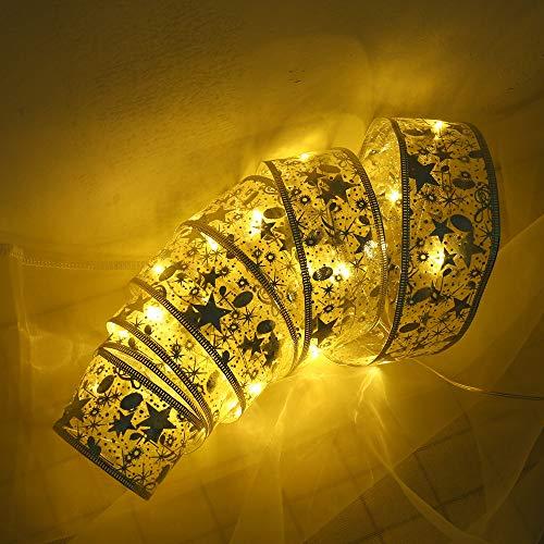 Mitlfuny Weihnachten DIY Home Decor 2019,Weihnachtsparty Dekoration 1m Band Nachtlicht Weihnachtsbaum LED String