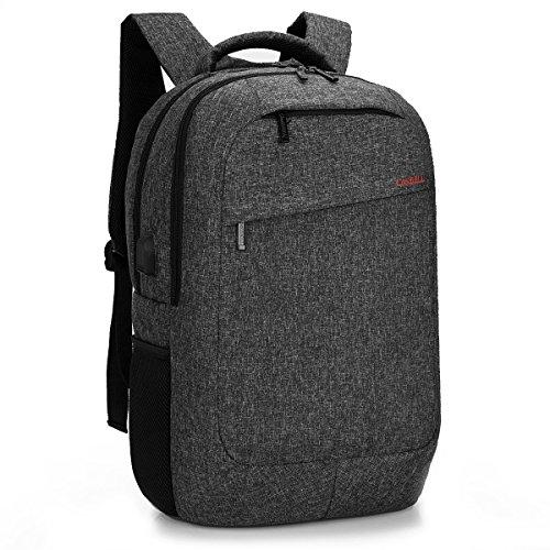 CoolBELL 17,3 Zoll Laptop Rucksack mit USB Ladeanschluss,Mehrzweck Backpack wasserdicht Knapsack Mutil-Fach Reise Rucksack Schützende Tagestasche für Männer / Frauen(Schwarz) (Laptop-rucksack Beste)