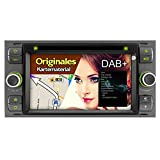 A-Sure 7 Zoll 2 Din DVD Player USB GPS Bluetooth Touchscreen Autoradio Navigation für Ford C-Max/S-MAX/KUGA/Focus/Fusion/Galaxy/Transit original Kartematerial (49 europäische Länder)W4FF3Q