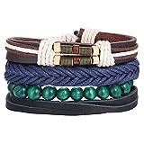 Daawqee Bracelets pour Femme, Fashion Multilayer Leather Bracelets Set for Men Women...