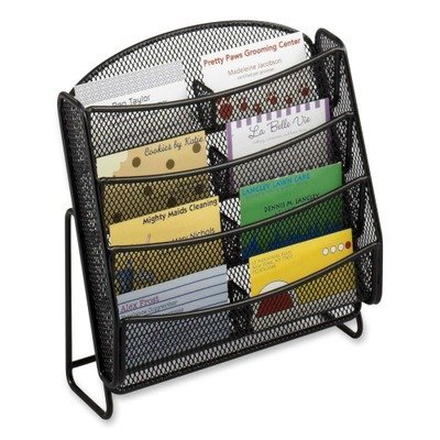 Safco Products Onyx Mesh 8 Pocket Business Card Holder, Black, 5642BL by Safco