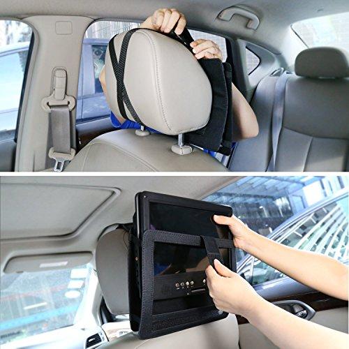 NAVISKAUTO 9-9,5 Zoll Auto KFZ Kopfstützenhalterung Kopfstütze Halterung Gehäuse für Tragbarer DVD Player Spieler Kopfstützenmonitor Monitor Y0194 - 3
