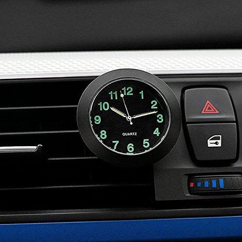Preisvergleich Produktbild CARGOOL Auto Armaturenbrett Uhr Mini Fahrzeug Uhr Air Vent Uhr,  Perfekte Dekoration für Auto,  SUV und MPV,  Schwarz