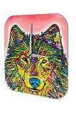 Reloj De Pared Cocina Retro Lobo colorido Plexiglas Impreso