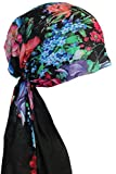 Easy Tie Organic Head Scarves (Black Red Special Print)