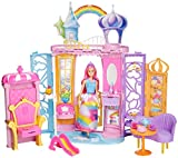 Barbie Dreamtopia Doll and Castle Set, Colourful Playset with Accessories