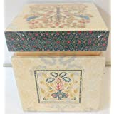 Izhaar Design By Ekaani Small Square Top Lacquer Box, 10 X 10 X 12 Cm, Corporate Gift