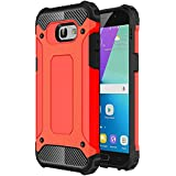 """Galaxy A5 2017 Coque, HICASER 2 en 1 Combo Hybride Housse Etui Robuste Protection [Full Body] Dual Layer Armure Lourde Case pour Samsung Galaxy A5 (2017) A520 5.2"""" Rouge"""