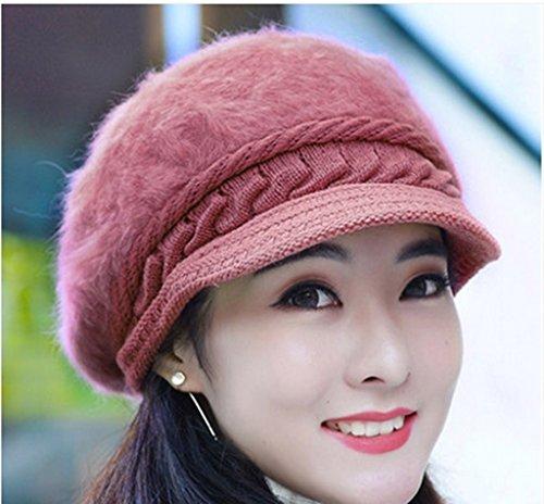 Chapeau Féminin Hiver Version Coréenne Chapeau Rabbi Chapeau à Couvercle Chapeau à Couleurs Solides Hiver ( couleur : # 13 ) Dix#