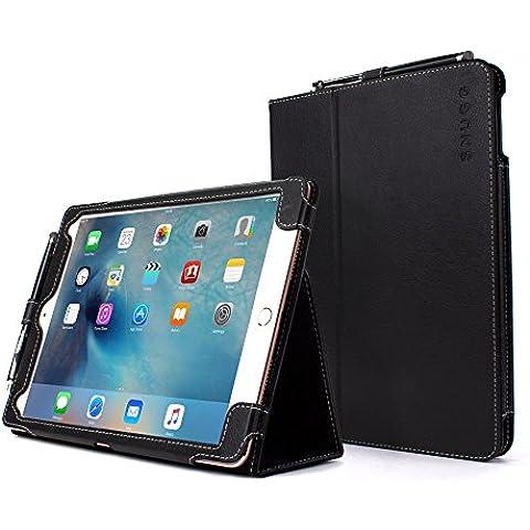 Snugg iPad Pro 9.7 Caso (Nero), Copertina in Ecopelle Intelligenti, Rivestimento Interno di Qualità in Nabuk, Supporto Flip-stand con una Garanzia a Vita per Apple iPad Pro 9.7