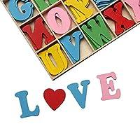 Fat.chot-Toys 60Pcs/112Pcs Cute 10 Letters Numbers Wooden Cartoon Fridge Magnet kid